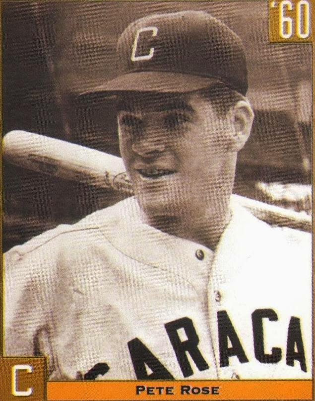 En 1983: Pete Rose de los Expos de Montreal, conecta el hit 4000 de su carrera. Rose reforzó al Caracas en la temporada 1964-1965.